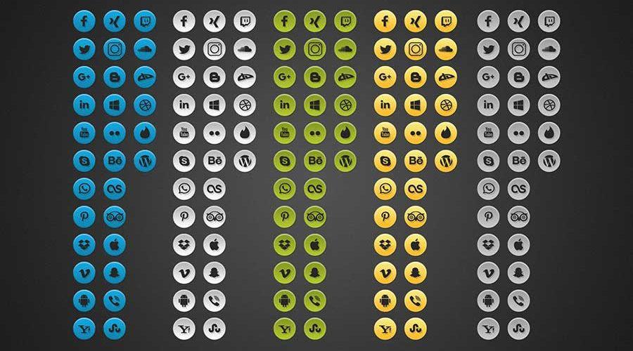 Free Simple Social Media Photoshop Icons